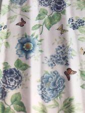 LENOX Blue Floral Garden Shower  Curtain