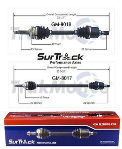 For Chevy Geo Metro Suzuki Swift FWD Pair of Front CV Axle Shaft SurTrack Set