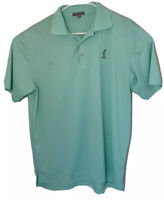 Peter Millar Summer Comfort Shirt Polo Medium 1932 Golf Logo Seafoam Green