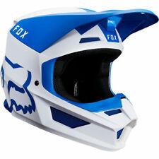 Fox Racing V1 Mata Moto Helmet Blue White Men 2XL ATV YFZ MX YZF Motocross Bike