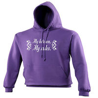 My Kitchen My Rules HOODIE hood birthday cooking cook chef joke funny gift
