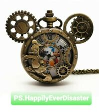 Mickey Mouse Donald Duck Disney Pocket Watch Classic Steampunk Watch/Necklace