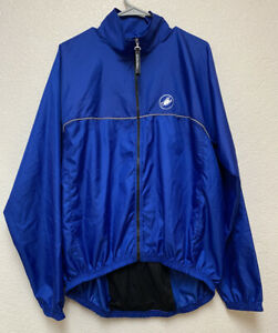 Castelli Cycling Windbreaker Jacket Sz XL Blue Really Good Condition