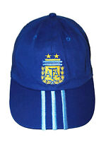 ARGENTINA DARK BLUE WITH BLUE STRIPES AFA LOGO FIFA WORLD CUP EMBOSSED HAT CAP