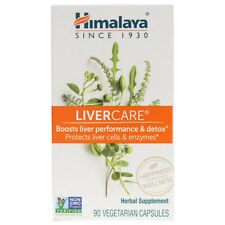 Himalaya LiverCare for Maintaining Liver Health - 90 Vegetarian Capsules