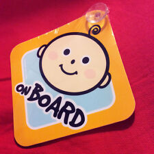 Cute Baby on Board Sign . High Quality Plastic with Suction Cup . Blue for Boy