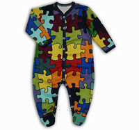 baby body babygrow boy girl clothes sleepsuit romper cotton 0-3-6-9-12-18months
