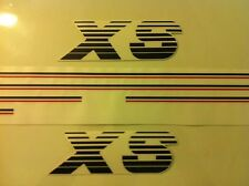 Kit complet stickers autocollants Peugeot 205 XS noir rouge - black red