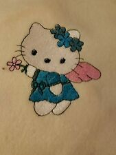 Personalized Embroidery Baby Blanket Hello Kitty Angel