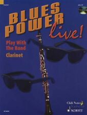 Blues Power Live Clarinet Play With The Band Music Book & Play-Along CD