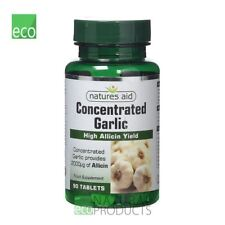Natures Aid Vegan aglio concentrato 2000ug allicina 90 Compresse