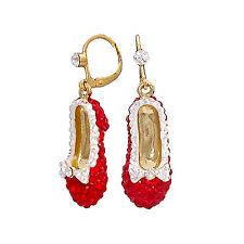 Butler Y Wilson Rojo Cristal Esmalte sola gota Dorothy zapato pendientes Nueva