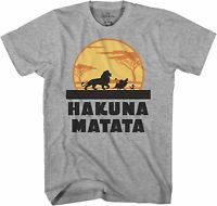 Disney Lion King Hakuna Matata Adult Tee Graphic T-Shirt for Men Tshirt