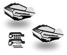 PowerMadd Sentinel Handguard Guards Kit Black White Universal ATVs Dirtbike