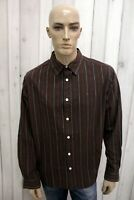 TIMBERLAND Taglia XL Camicia Uomo Cotone Shirt Chemise Casual Manica Lunga