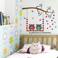 Wandtattoo Wandsticker Wandaufkleber Eulen Aufkleber Kinderzimmer Baby #137