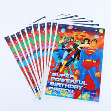 Justice League Super Hero Superman Flash Kids Happy Birthday Party Bags Loot Bag