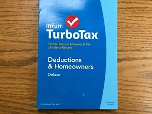 Intuit TurboTax Deluxe 2014, Federal & STATE BRAND NEW SEALED!!!