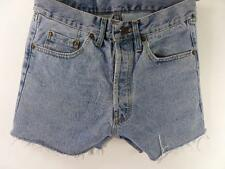 Vintage Denim Shorts casual cotton Blue size w30 Grade B M329