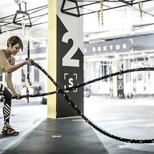 Homcom BATTAGLIA Corda Addestramento attrezzature esercizio Cardio Full Body Poliestere Nero