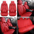 Car Full Set PU Leather Seat Covers Universal 5-Sits Protector Cushion Interior  for sale