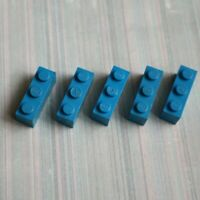 LEGO - Used Condition - 1x3 Brick (3622) - Blue x 5