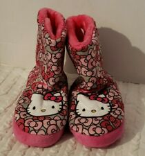 Sanrio Girls HELLO KITTY Pink Bows Boot Slippers 2 3 shoes booties kids