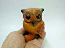 Wooden Owl Hand Carved Figurine Statue Sound Animals Whistle Home Deco Gift Toys