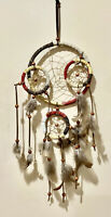 """Dream Catcher with feather wall hanging decor ornament-18"""" Long"""