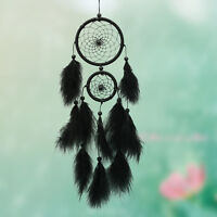 Handmade Dream Catcher with feathers car wall hanging decoration ornament Black