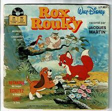 """ROX et ROUKY Vinyle 45T Livre EP 7"""" Jacques MARTIN Walt Disney DISNEYLAND 383"""