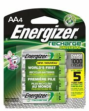 4 Pack Energizer AA Rechargeable 2000mAh Recharge Universal Batteries
