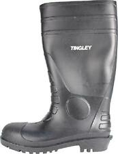 Rubber Kneed Boots Agriculture Safe Black Pvc 15-In Mens Size 7 Waterproof