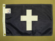 "Chaplain Yacht Club Officer Indoor Outdoor Nylon Boat Flag Grommets 12"" X 18"""