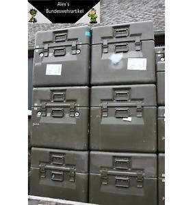 Transpotkiste Kiste Bundeswehr Transportbox GFK Lhotellier Mont 60x60x60 Gebr.