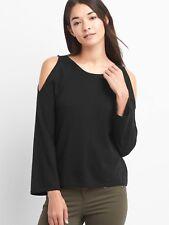 NWT GAP A-line cold shoulder pullover, Black SIZE L    #164034 v1112