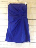 Ladies Coast Cocktail Dress Purple With Belt Waist & Pleated Front Size 18