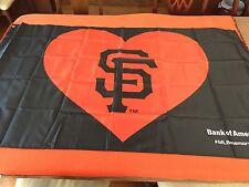 Banner Flag Heart San Francisco SF Giants SGA New 4/11/17