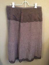 New York City Design Co Brown Skirt Womens Size 6 w/ Detail