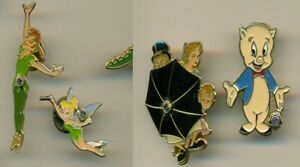 LIONS CLUB PIN(S) - PETER PAN, TINKERBELL  & KIDS.     - PORKEY PIG