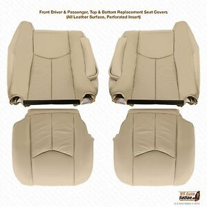2003 to 2006 Cadillac Escalade Upholstery Replacement Leather Seat Covers In Tan