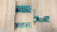 Lot of 3 2x Dial-Up Modem (KB581603, KB5815G) & 3Com 3C905CX-TX-M LAN-PCI 10/100