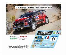 DECAL 1:18 CITROEN C3 WRC  LOEB RALLY MESSICO 2018