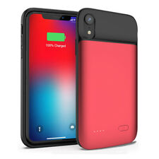 5000mAh For iPhone XR Portable Power Bank Pack Cover Magnet Battery Charger Case