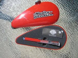 Waterman Horizon Harley Davidson RED  Rollerball Pen Gas Tank Box Motorcycles