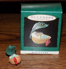 Hallmark Baby's First Christmas Miniature Ornament 1995 Mini Keepsake Rare Htf