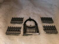 Dept 56 Heritage Village Victorian Wrought Iron Fence & Gate