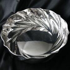 SCHIAVON 800 Silver Barocco Large Bowl Italy