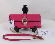 Authentic Diane Von Furstenberg Pink Convertible Crossbody Clutch Wallet $195