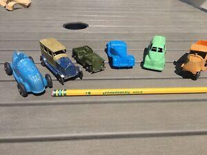 Lot of 6 Vintage Die Cast Tootsie Toy Cars & Trucks